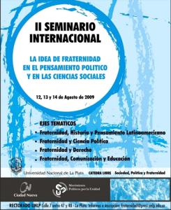 """Segundo Seminario Internacional """"La idea de fraternidad en el pensamiento político y las ciencias sociales"""""""